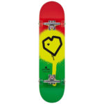 Monopatín Blueprint Spray Heart V2 Skateboard color Rasta talla 8