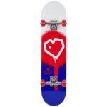 Monopatín Blueprint Skateboard, modelo Spray Heart V2 color red-blue 8